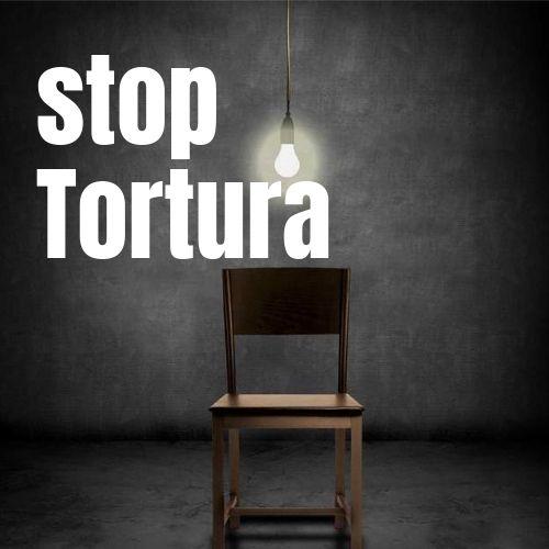 silla y luz de tortura