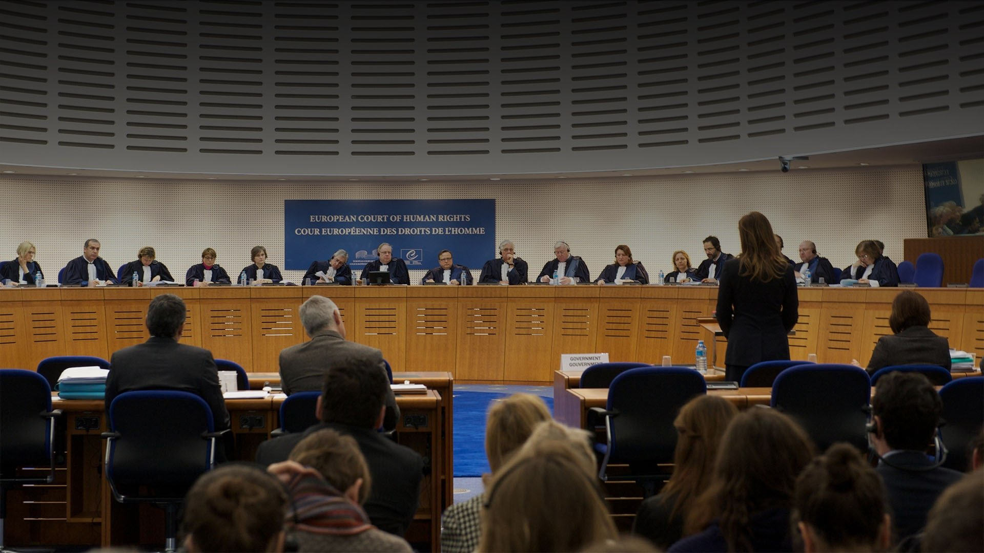Abogada frente al Tribunal Europeo de Derechos Humanos